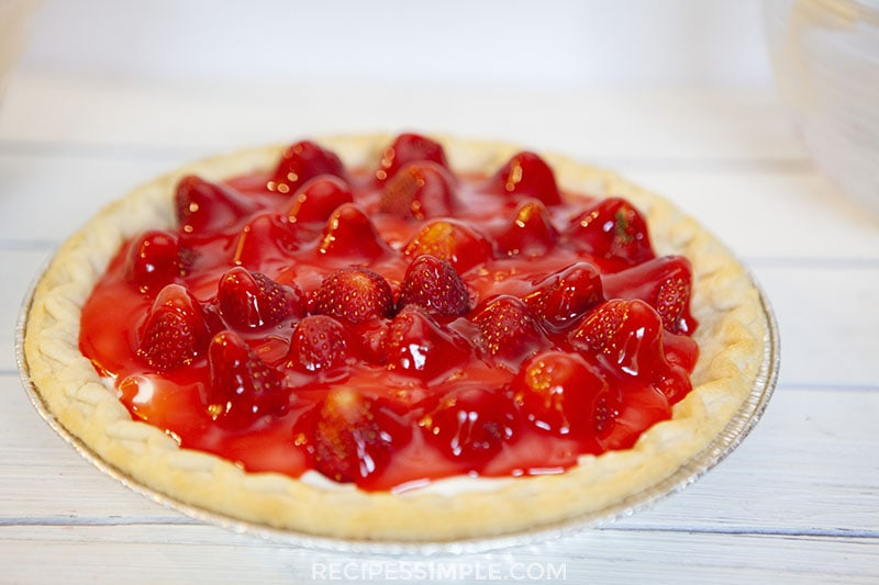 Whole Strawberry Cream Pie