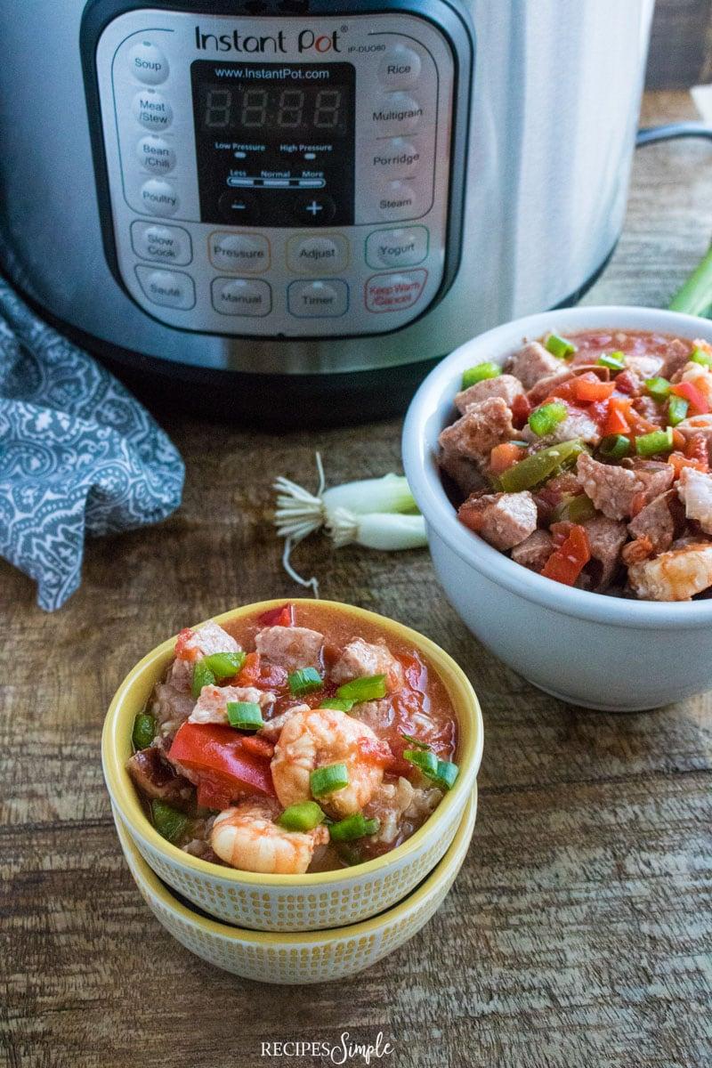 Instant Pot Sausage Shrimp Gumbo