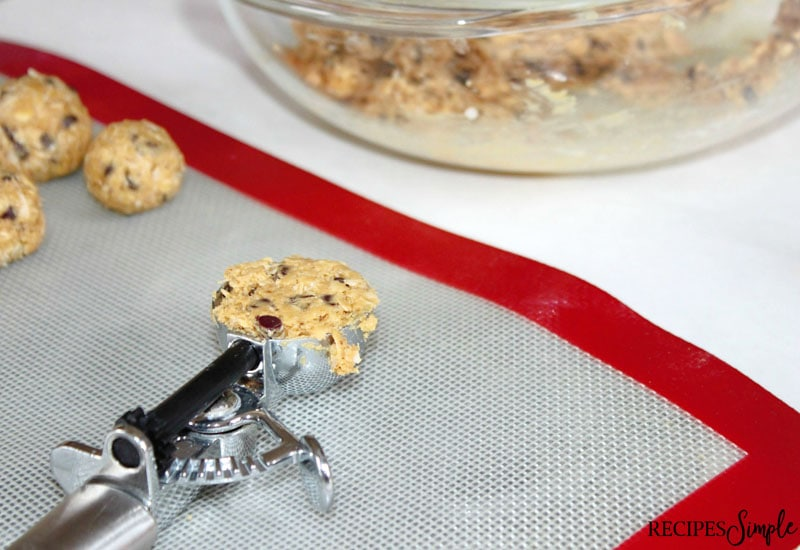 Peanut Butter Oatmeal Balls Scoop