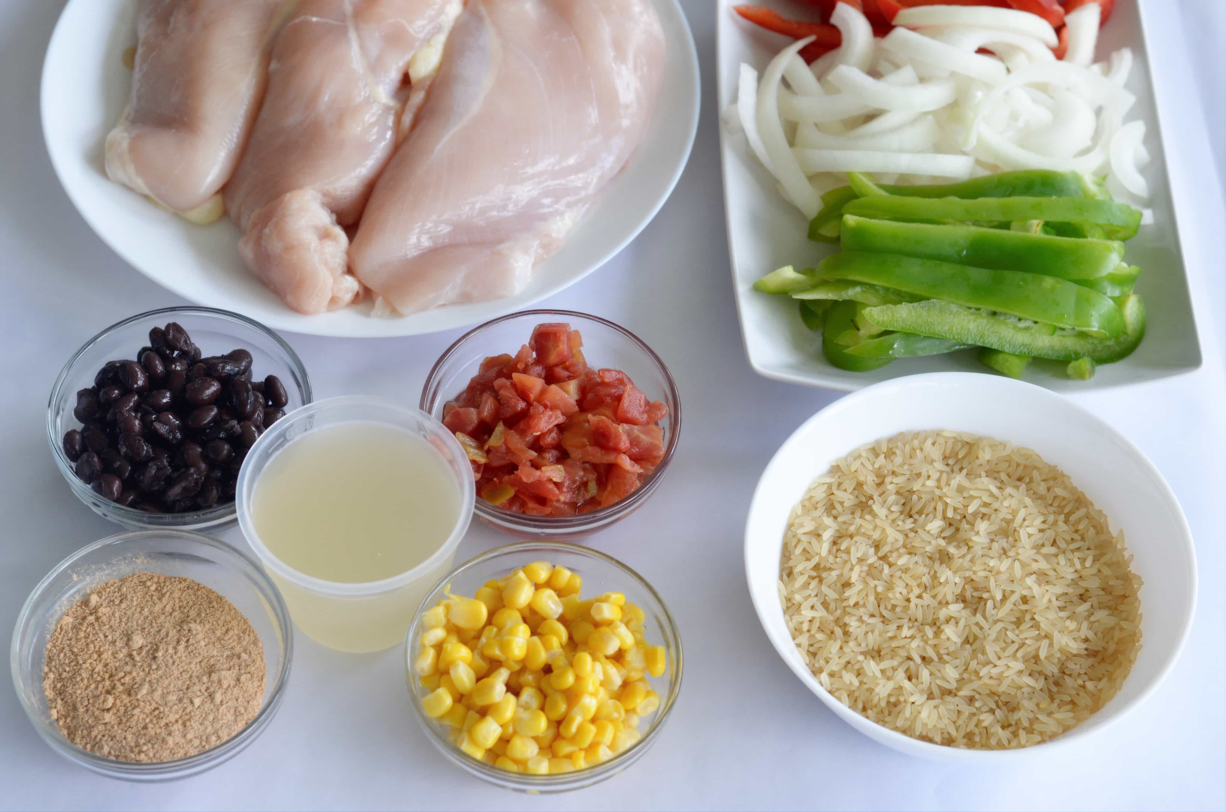 Instant Pot Chicken Burrito Bowls Ingredients