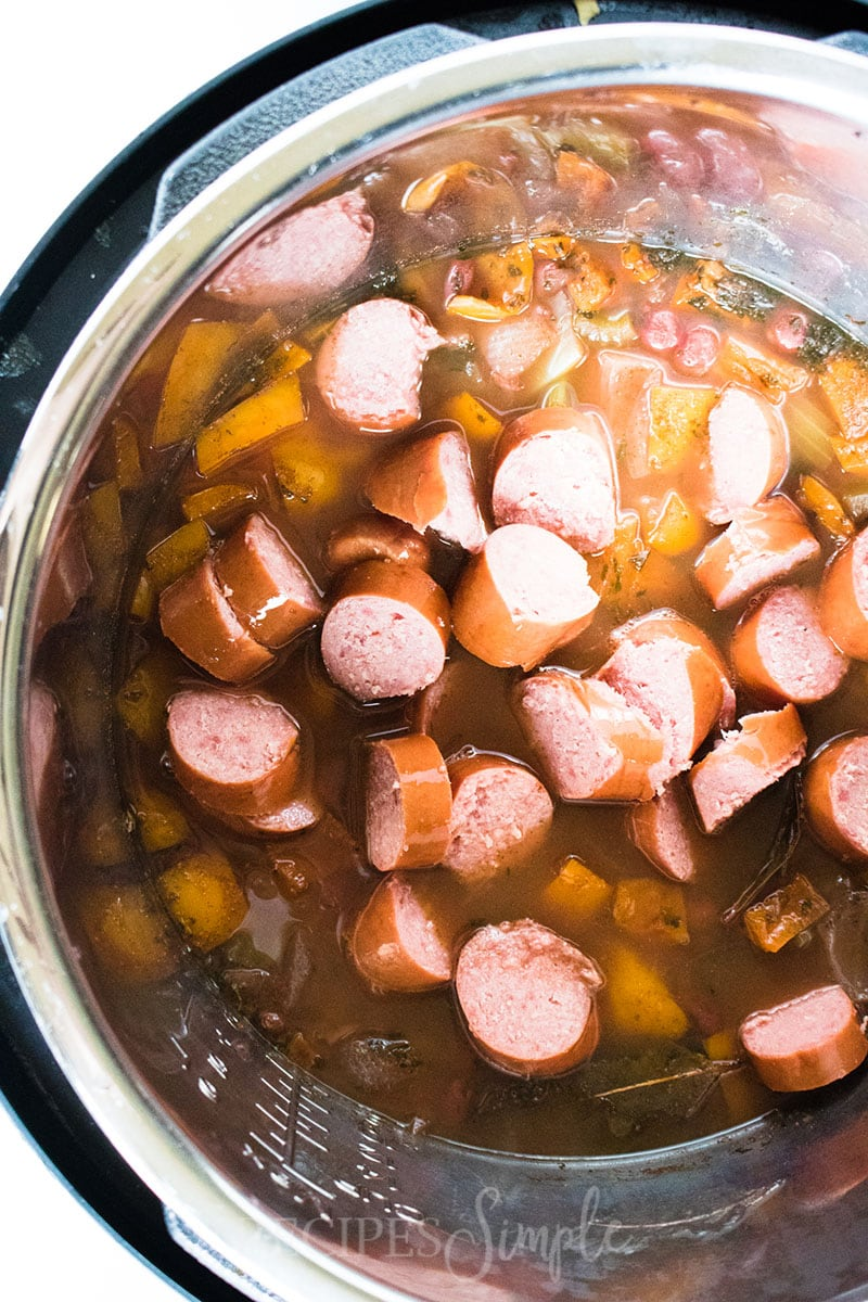 Red Beans and Rice Kielbasa Sausage Cooking