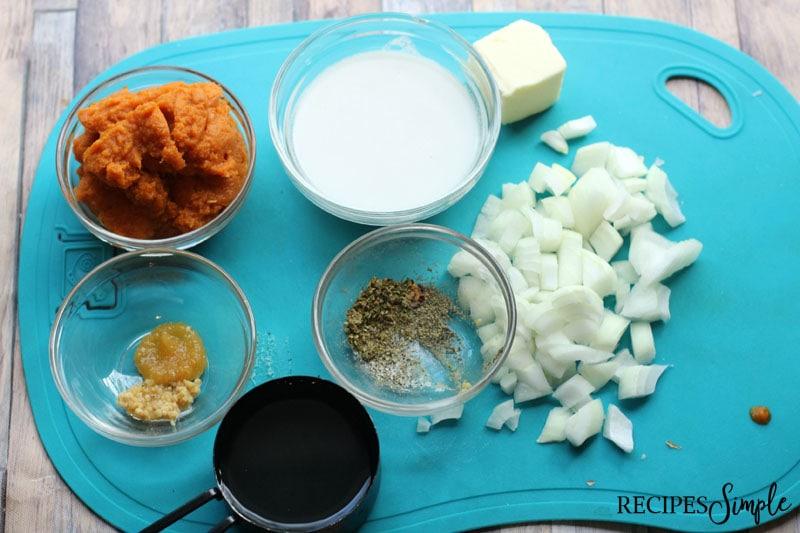 Dairy Free Pumpkin Soup Ingredients