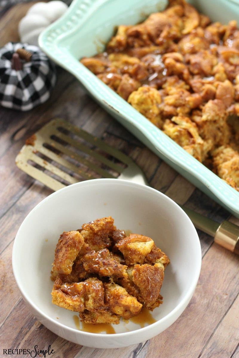 Easy Pumpkin Maple Bread Pudding