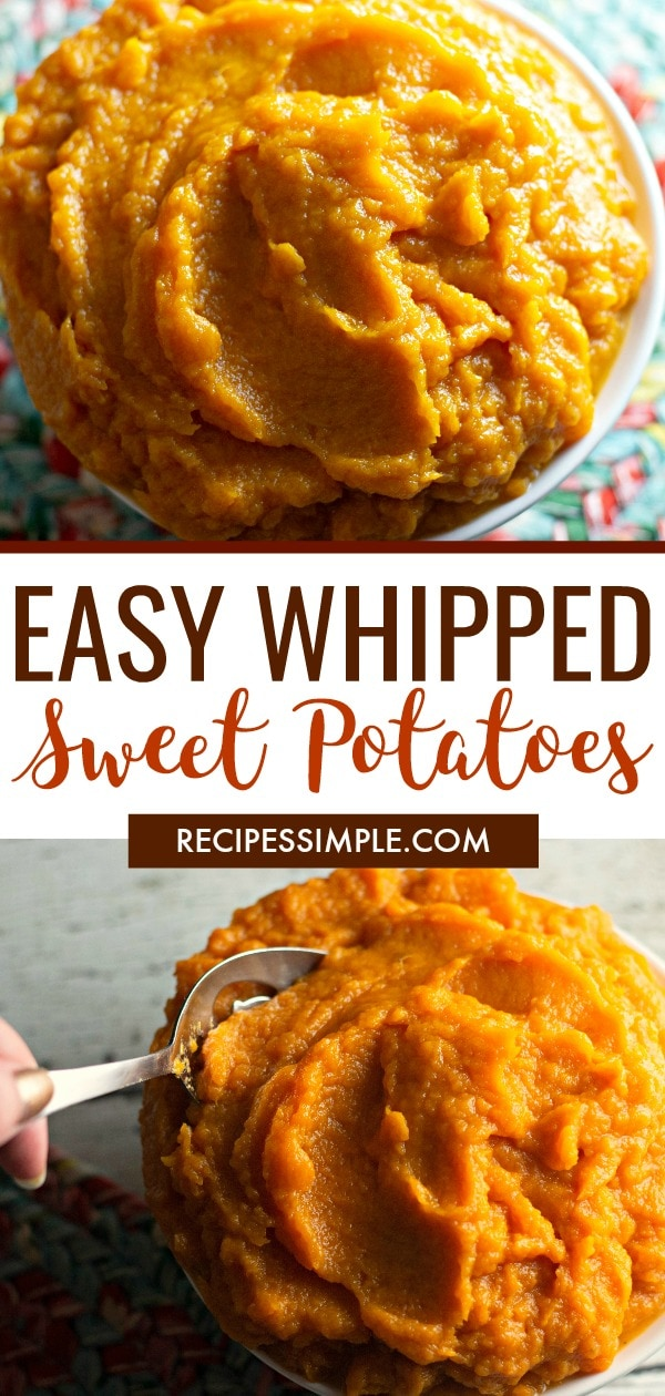 Easy Whipped Sweet Potatoes Recipe