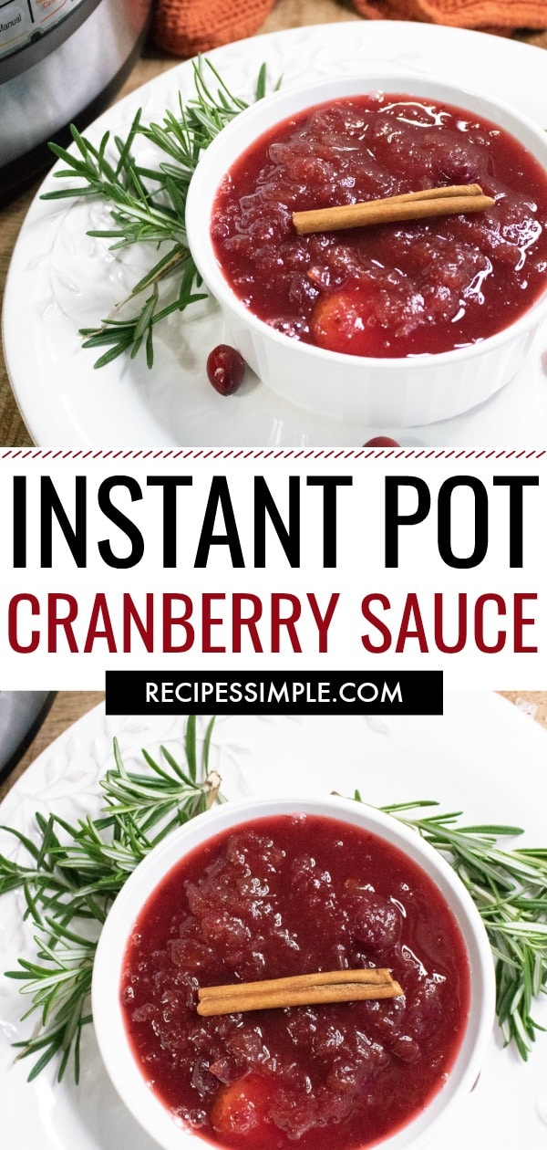Homemade Instant Pot Cranberry Sauce