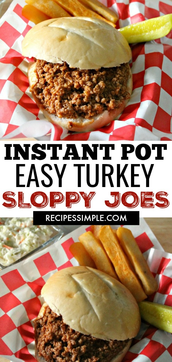 Instant Pot Easy Turkey Sloppy Joes