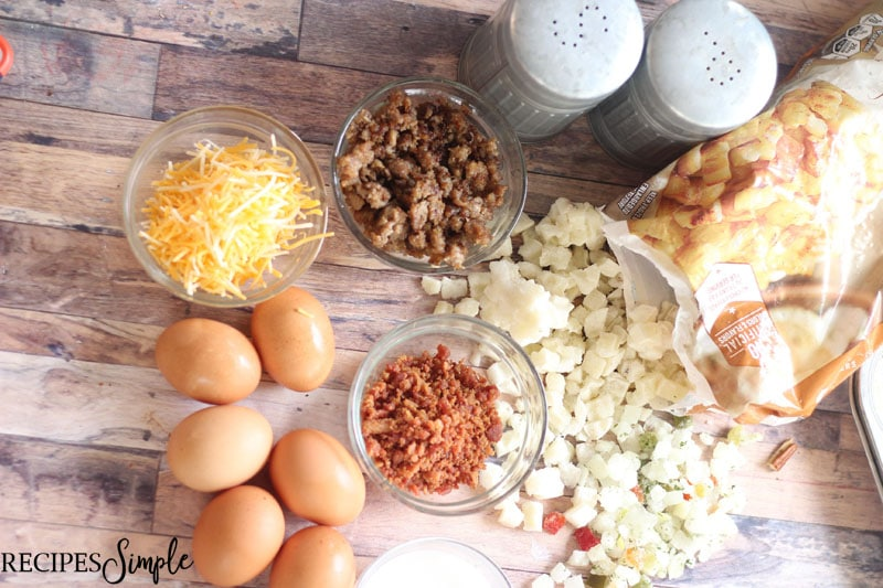 Loaded Egg Muffin Cups Ingredients