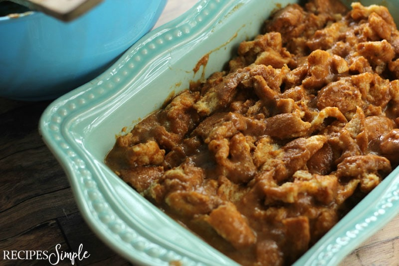 Maple Pumpkin Bread Pudding