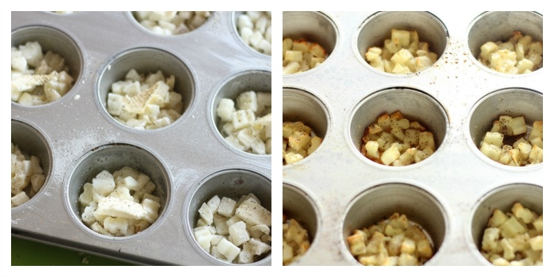 Potatoes Cooking For Egg Muffin Cups