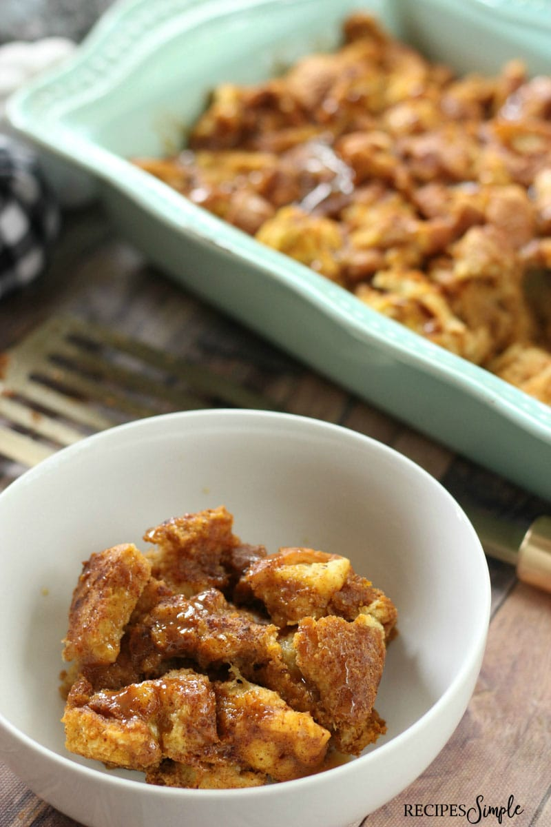 Pumpkin Maple Bread Pudding Recipe