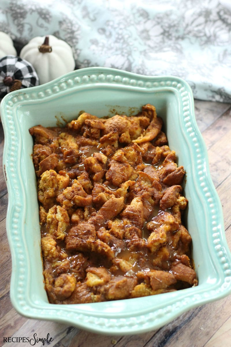 Pumpkin Maple Bread Pudding