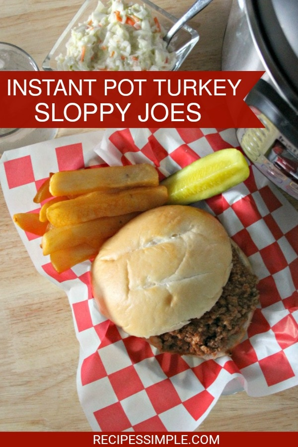 Instant Pot Turkey Sloppy Joes