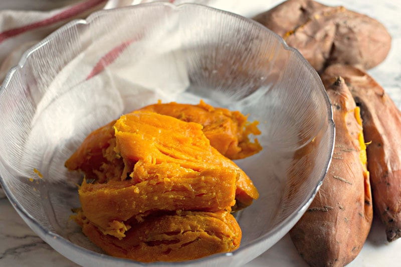 Whipped Sweet Potatoes Peeled