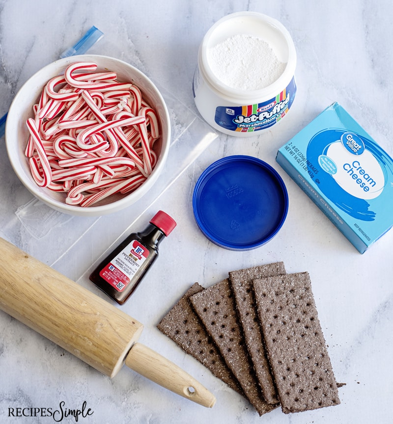 Candy Cane Christmas Dip Ingredients