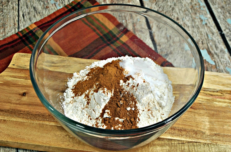 Chocolate Pumpkin Pound Cake Dry Ingredients Mixture