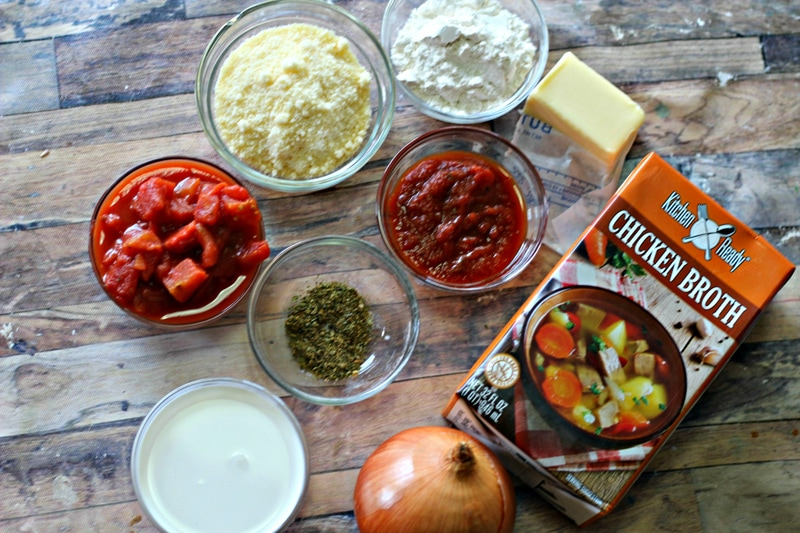 Creamy Parmesan Tomato Soup Ingredients