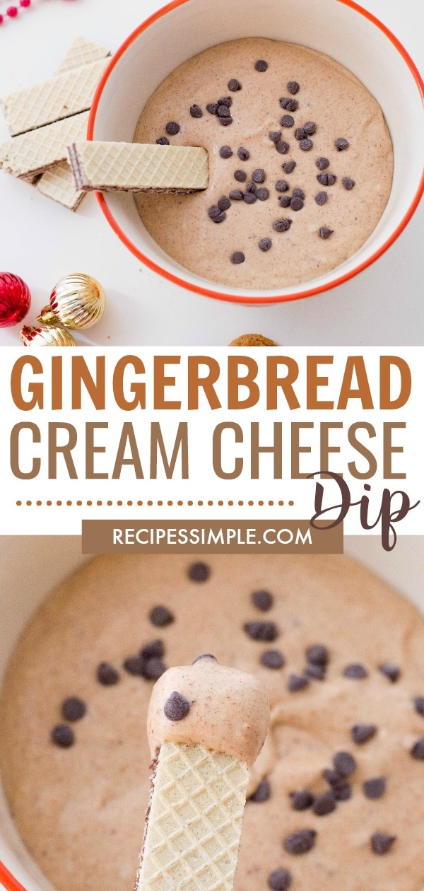 Easy Gingerbread Cream Cheese Dip