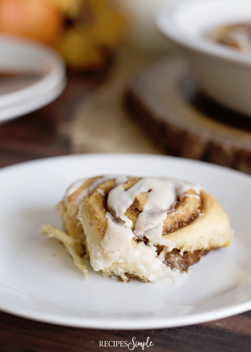 Easy Pumpkin Cinnamon Rolls