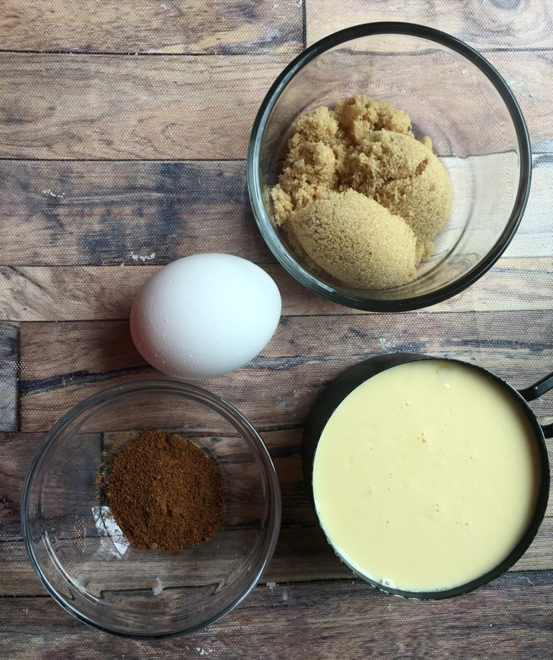 Eggnog Custard Ingredients
