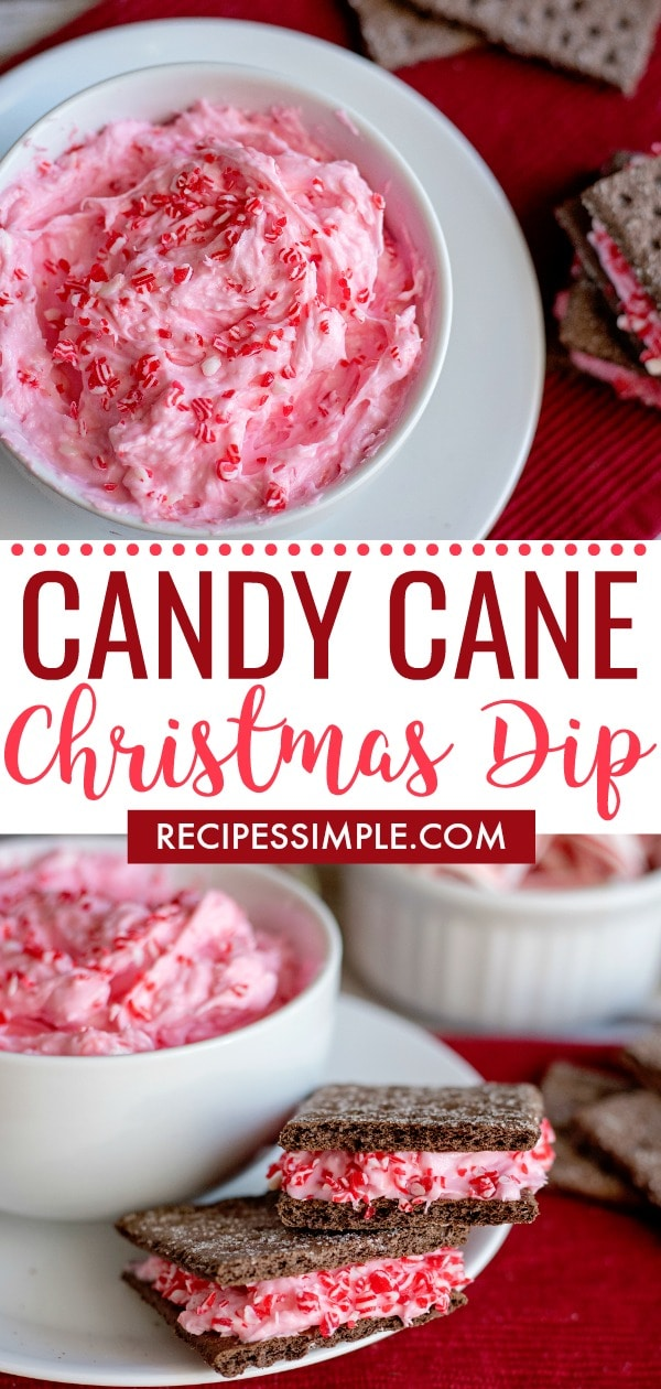 Fluffy Candy Cane Dip