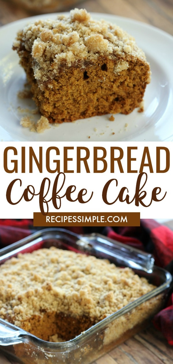 Gingerbread Coffee Cake Crumble Topping