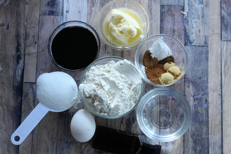 Gingerbread Coffee Cake Ingredients