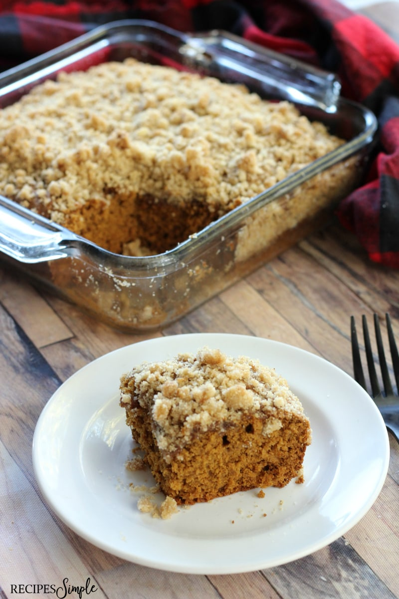 Gingerbread Coffee Cake With Crumble Topping Recipe