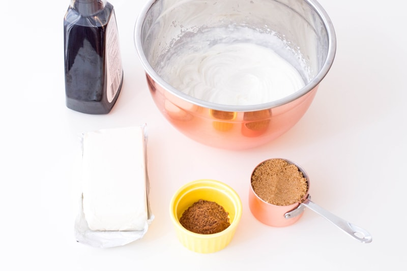 Gingerbread Cream Cheese Dip Ingredients