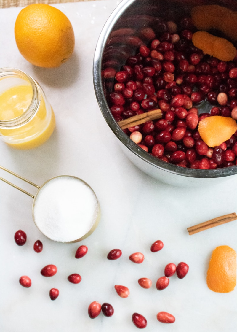 Instant Pot Cranberry Sauce Ingredients