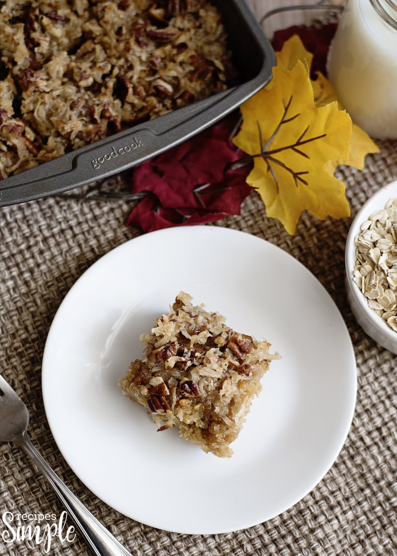 Oatmeal Cake with Pecan Frosting Recipe