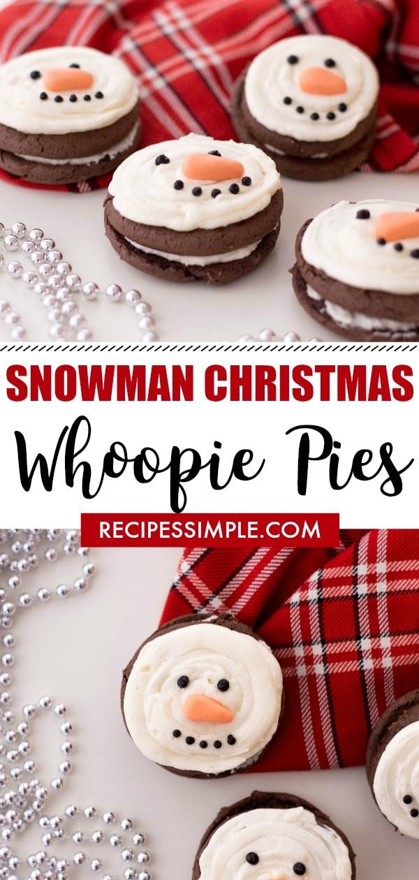 Snowman Christmas Whoopie Pie