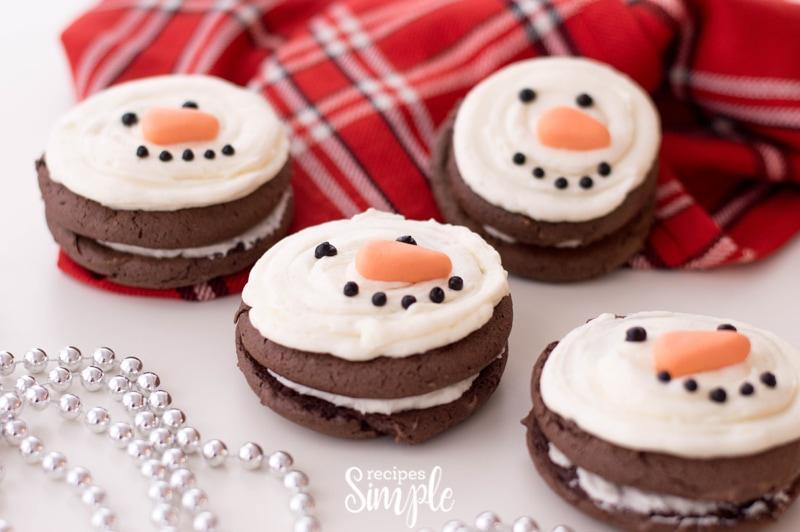 Snowman Christmas Whoopie Pies Recipe