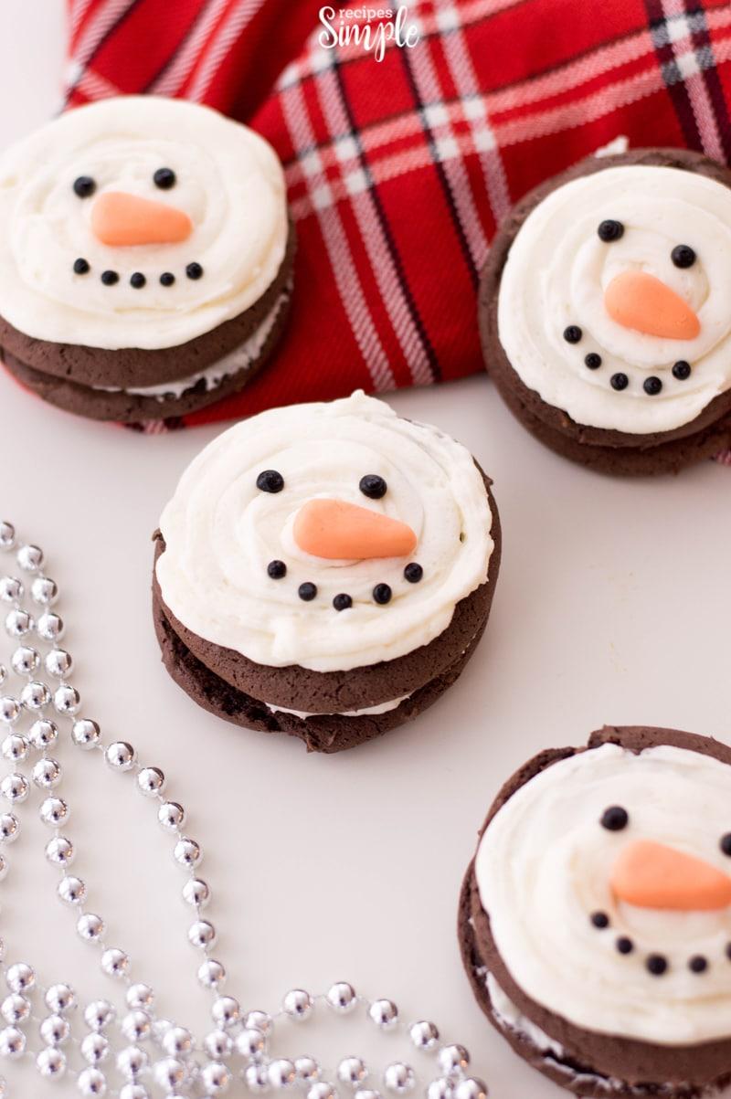 Snowman Christmas Whoopie Pies
