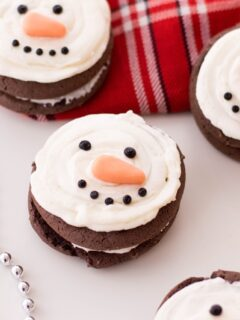 Snowman Whoopie Pies