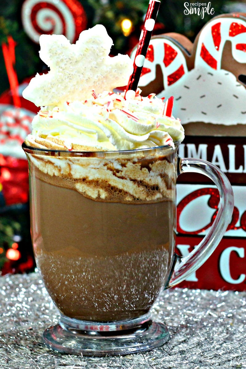 Candy Cane Dark Hot Cocoa