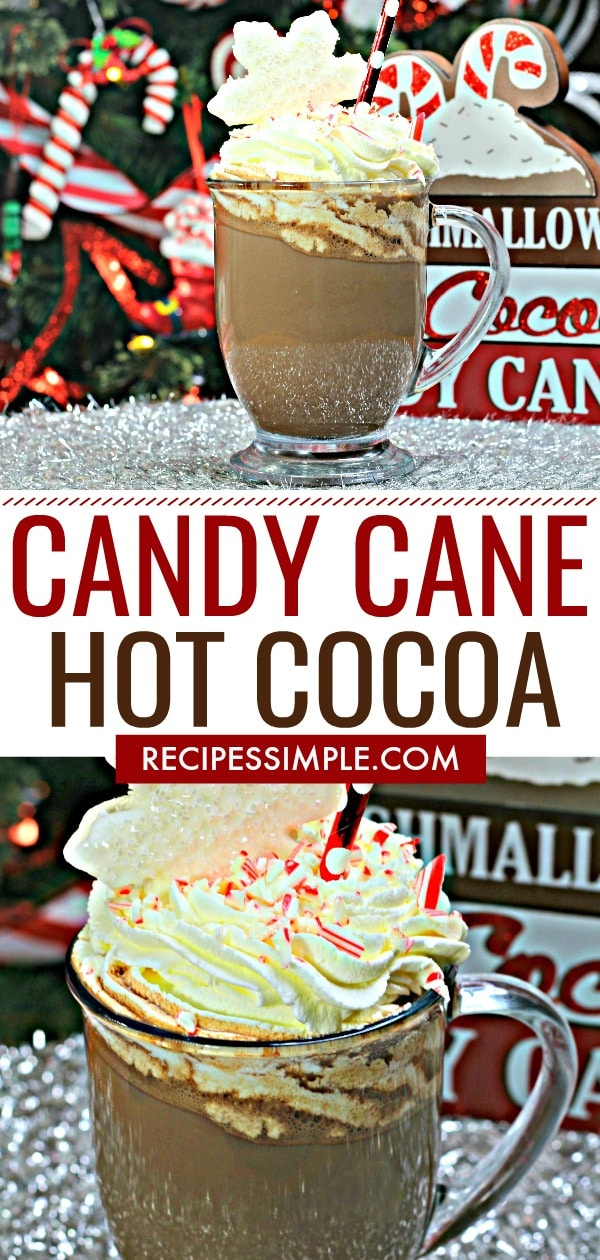Candy Cane Hot Dark Cocoa