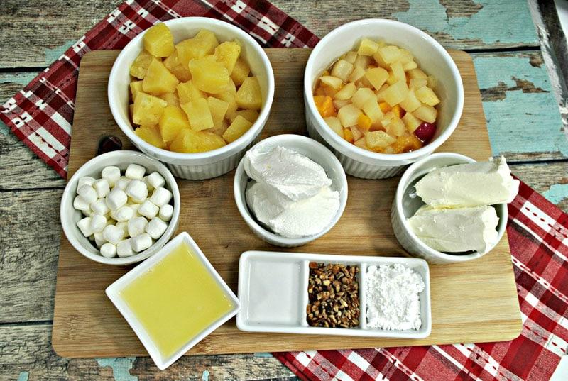 Cherry Fluff Dessert Ingredients