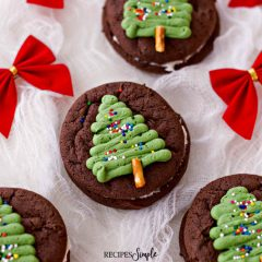 Christmas Tree Chocolate Whoopie Pies