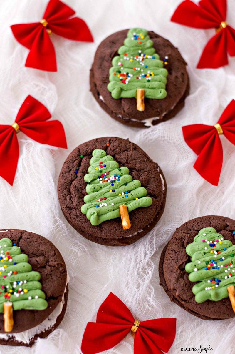 Christmas Tree Chocolate Whoopie Pies Recipe