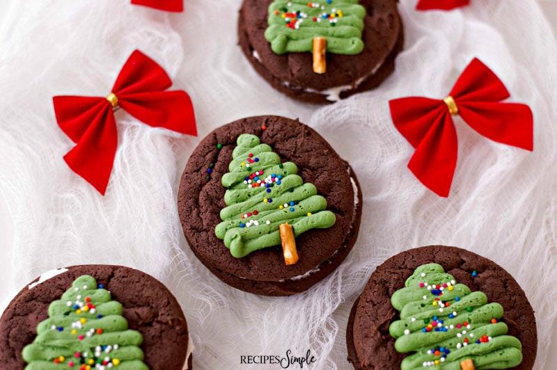 Christmas Tree Chocolate Whoopie Pies