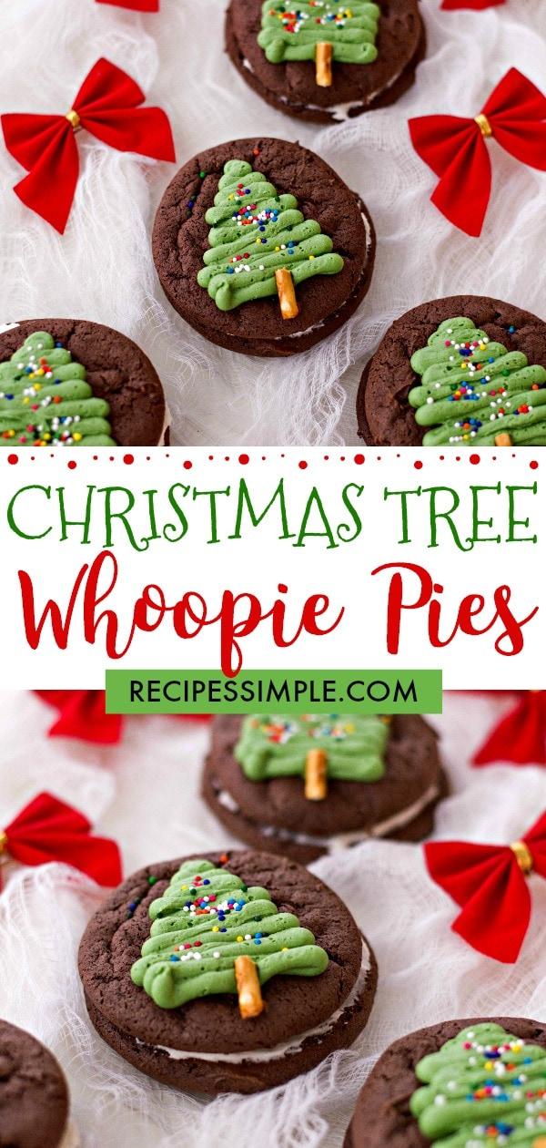 Christmas Tree Whoopie Pies