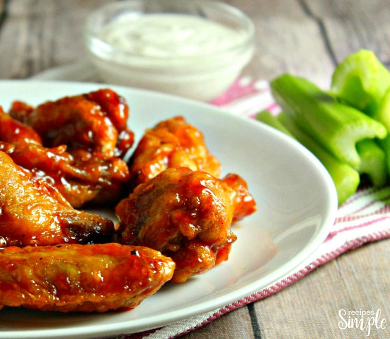 Crispy Oven Baked Hot Wings