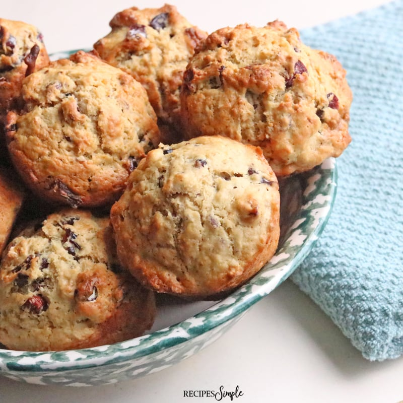 Easy Cranberry Pecan Muffins