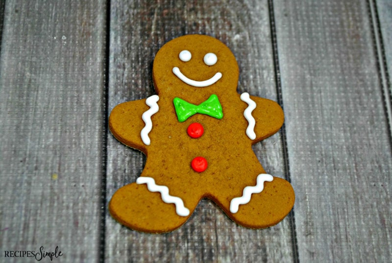Gingerbread Men Cookies Decorated