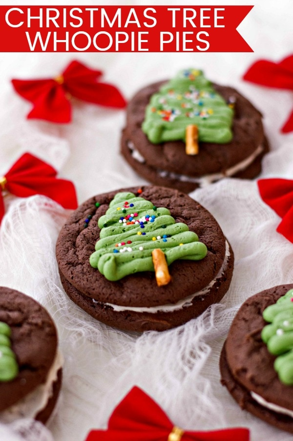 How To Make Christmas Tree Whoopie Pies