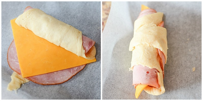 How To Roll Ham And Cheddar Crescents
