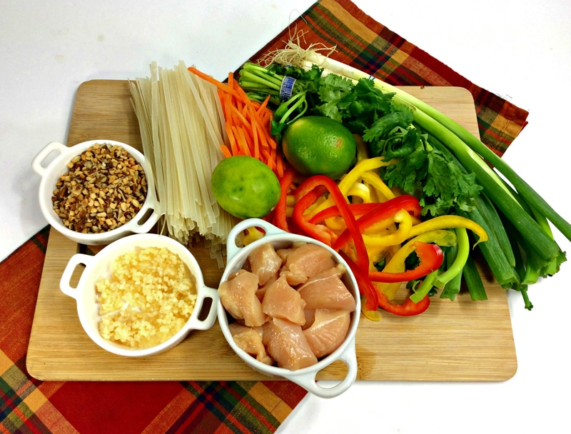 Instant Pot Chicken Pad Thai Ingredients