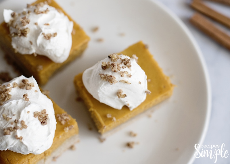 Pumpkin Gooey Butter Bars Recipe