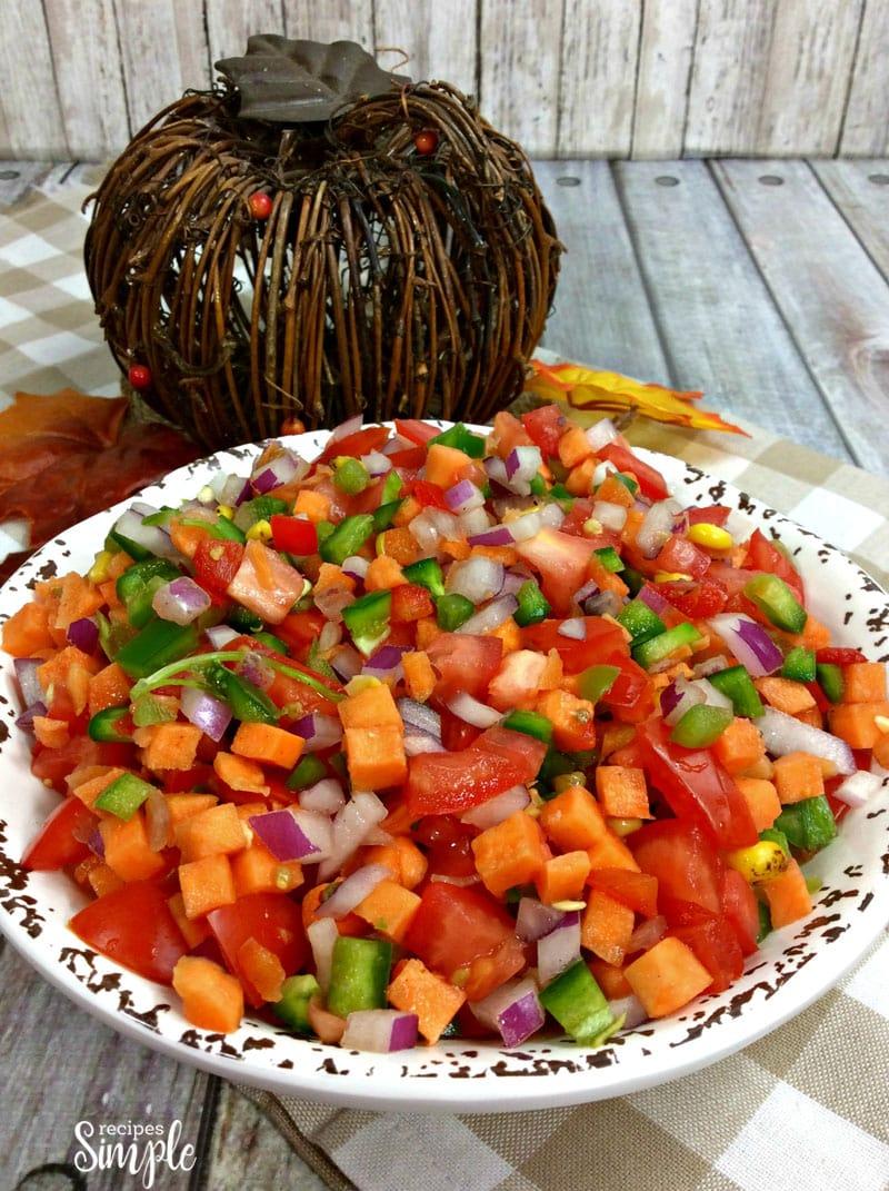 Roasted Sweet Potato Pico De Gallo