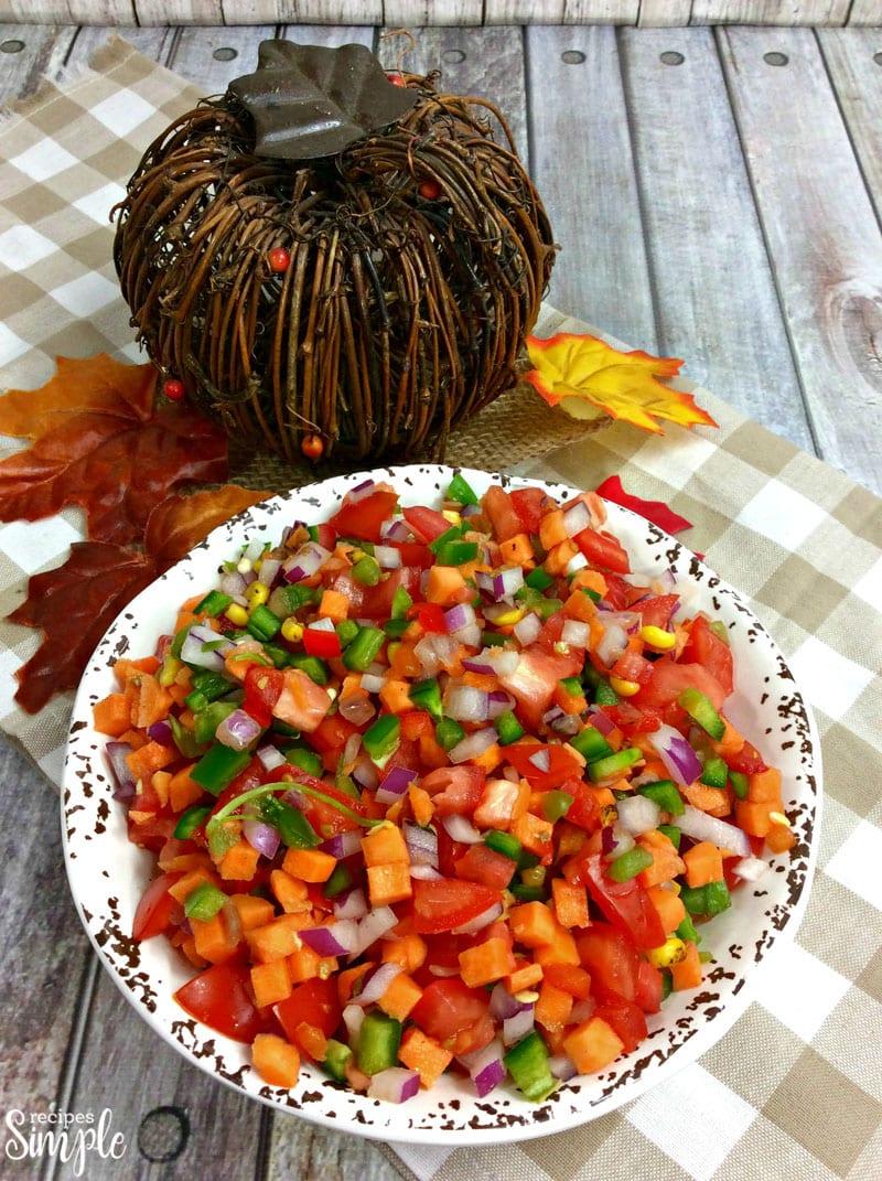 Sweet Potato Pico De Gallo Recipe